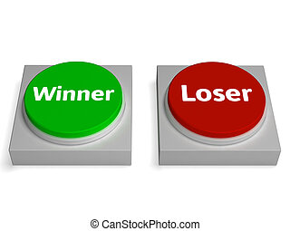 Winner Loser Buttons Show Gambling Or Betting