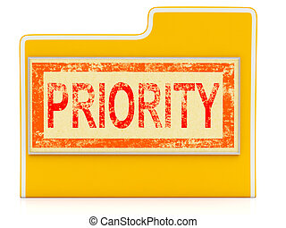 Priority File Shows Speedy Rush Immediate Delivery