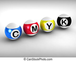 Cmyk Shows Printing And Printer Ink - Cmyk Shows Printing...