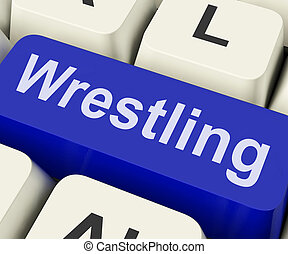 Wrestling Key Shows Wrestler Fighting Or Grappling Online -...