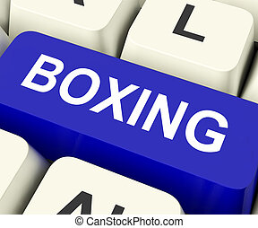 Boxing Key Show Fighting Or Punching - Boxing Key On...