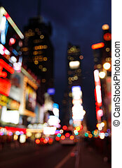 Times Square abstract, NYC - Abstract view of Times Square...