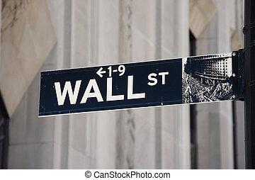 Wall Street sign - Manhattan, New York City, USA