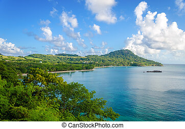 View of San Andres y Providencia - Wide view of Caribbean...