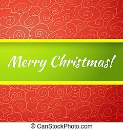 Excellent bright merry christmas greeting card. Vector...