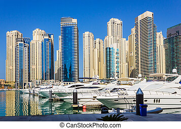 Yacht Club in Dubai Marina UAE November 16, 2012 - DUBAI,...