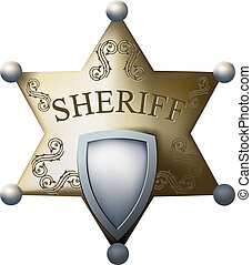 sheriff bage - Sheriff's badge with a blank space for the...
