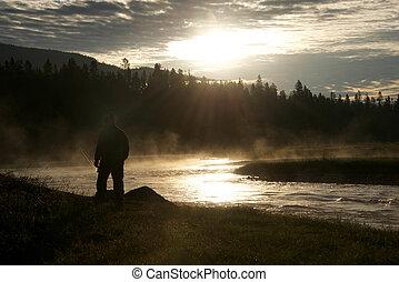 Fly fishing at dawn 2