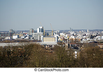 View of East London - View from Greenwich looking across...