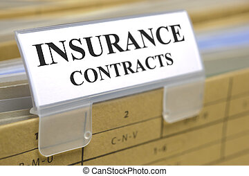 insurance contracts - folder marked with insurance contracts...