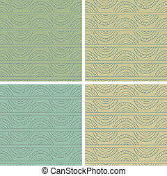 Abstract vector seamless pattern Fancy doodle Retro colors