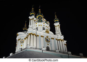 orthodox church at the night