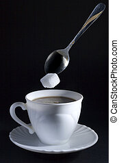 coffe with sugar