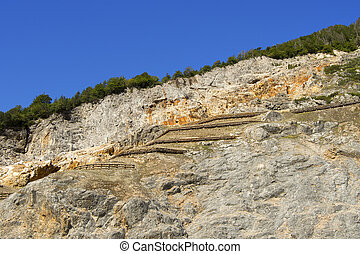 Cave del Predil - Friuli Italy - Lead and zinc mine, outdoor...