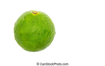 Calamansi over white background