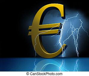 Euro. European money. Crisis.