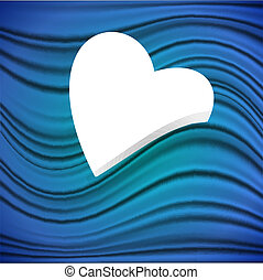 Heart on a blue background