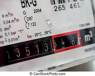 gas meter - Gas meters in close-up