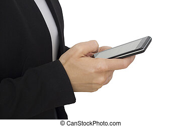 smart phone in action - stock image