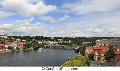 River Vltava in Prague. Czech Republic