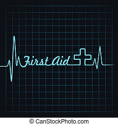 Heartbeat make first aid word