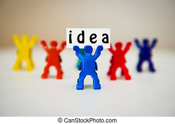 concept photo of man with idea