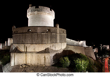 Tower in Dubrovnik - UNESCO protected old town of Dubrovnik...
