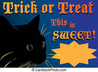 Trick or Treat Ad - Trick or treat advertisement featuring a...