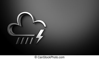 Weather forecast background, with 3d silver cloud and...