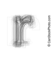 Sketchy alphabet lowercase letter quot;rquot; - Sketchy...