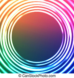 Light Circles Abstract Background Vector Astral Background