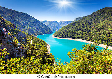reservoir - The Piva Canyon with its fantastic reservoir....