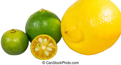 Calamansi, Lime and Lemon - Calamansi, lime and lemon over...