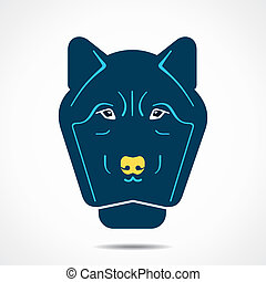 abstract wolf face stock vector