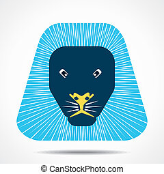 lion cartoon face