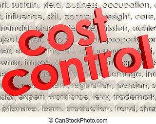 Cost Control - Hi-res original 3d rendered computer...