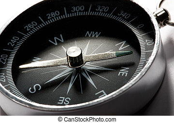 Compass on the white background