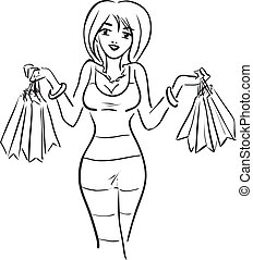 The woman with purchases
