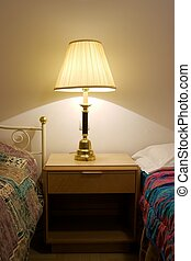 Lamp - Old lamp lighting an old hotel room