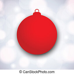 Xmas background with red papper ball