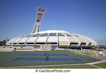 montreal olympic stadium - famous olympic stadium of...