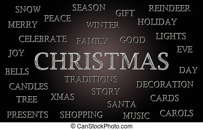 Christmas word cloud
