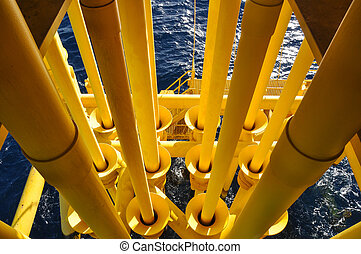 Oil and Gas Producing Slots at Offshore Platform - Oil and...