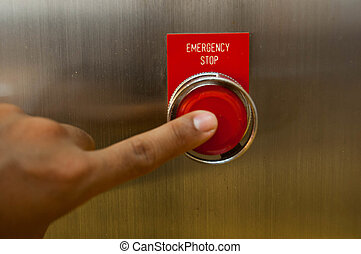 Emergency stop button, Stoping every thing in the work...