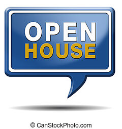 Open house sign - Open house for sale sign at model house...