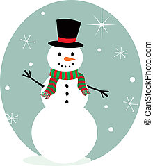 Cute snowman character for your Xmas designs