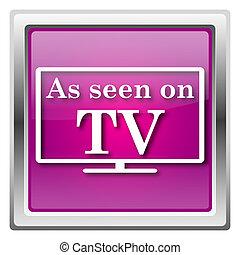 As seen on TV icon - Metallic icon with white design on...