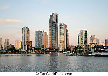 Surfers Paradise Skyline - View of Surfers Paradise skyline...