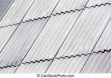 Gray asbestos roof