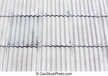 Corrugated asbestos roof - Gray corrugated asbestos roof...